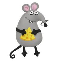 Мягконабивная Мышонок с Сыром 33см