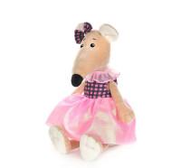 Мягконабивная Крыса Анфиса в Платье с Бантом 21см