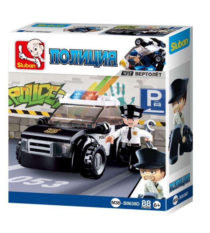 Конструктор Полиция: Патрульный автомобиль 88 дет.