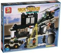Конструктор Полиция: Участок 385дет (вертолёт, джип, звук, фигурки люде