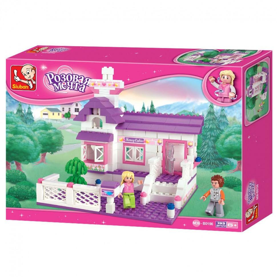 Конструктор Розовая мечта: Домик принцессы 193дет.(дом, мебель, фигурки