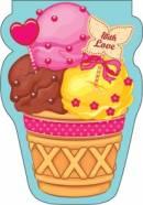 Закладка-магнит Мороженое в вафельном стакане