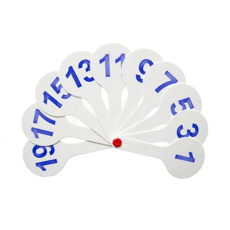 Веер цифровой 1-20 белый