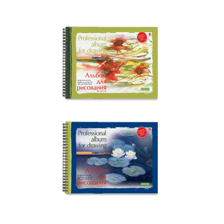 Альбом д/рис А5 40л спир Профессиональная 150г/м2