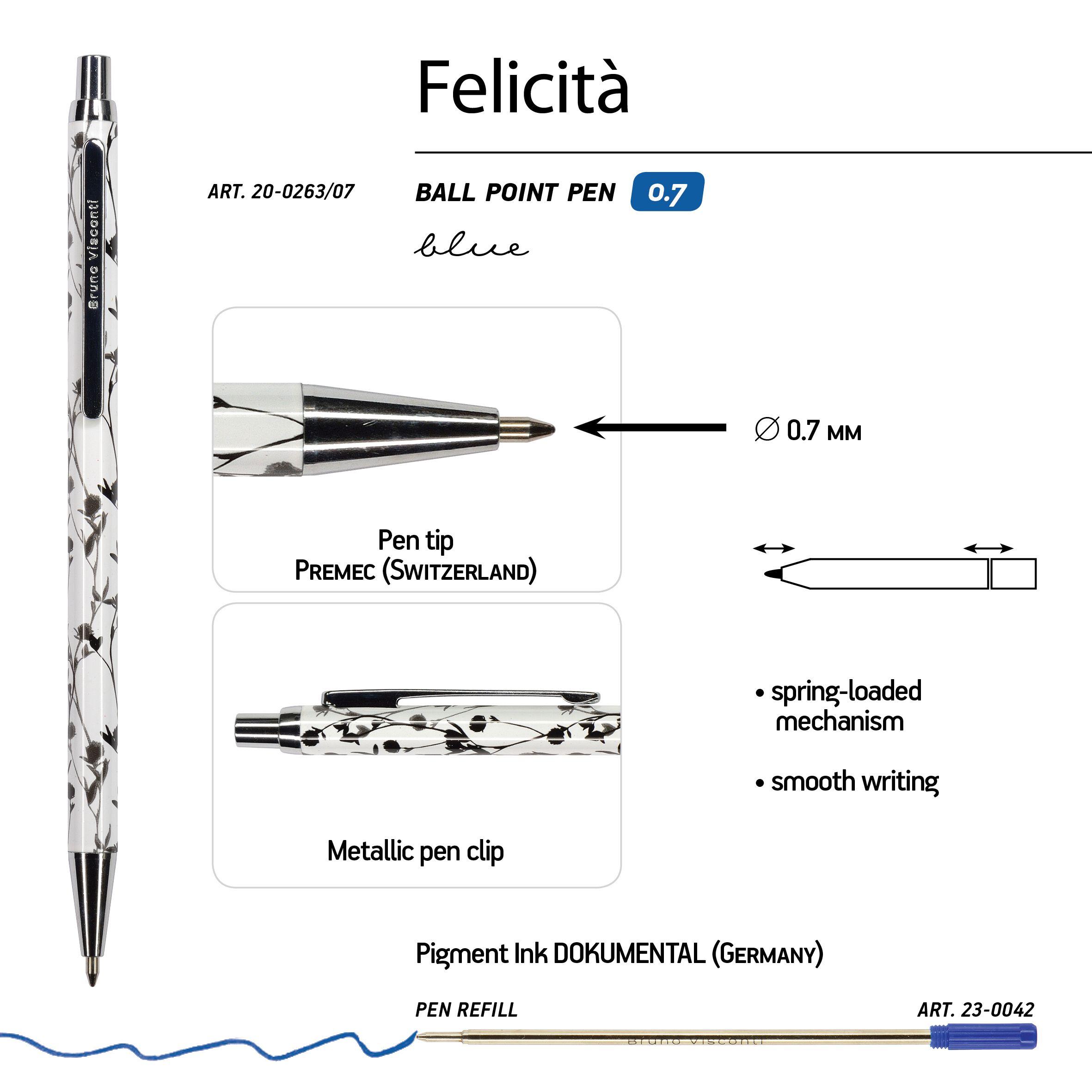 Ручка подар. BV синяя 0,7мм Felicita авт Вереск