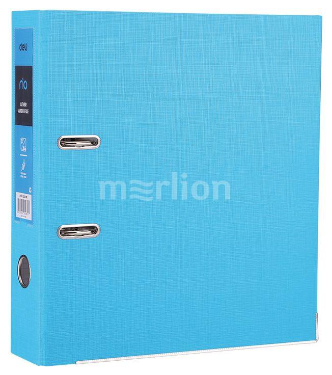 Папка-регистратор 75мм синий мет/окант