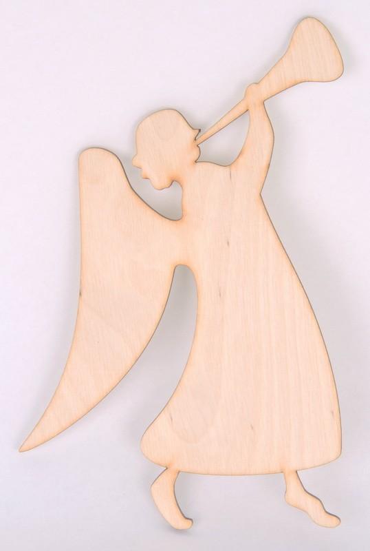 Заготовка НГ дерево Ангел с трубой 8см