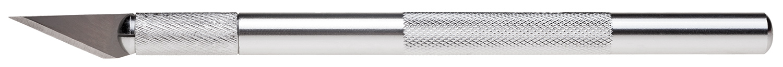 Нож-скальпель Hatber 37x9мм мет. корп д-8мм 2 зап.лезвия