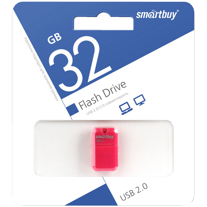 Флэш-карта USB 32GB 2.0 Smart Buy Art Flash Drive, пурпурный