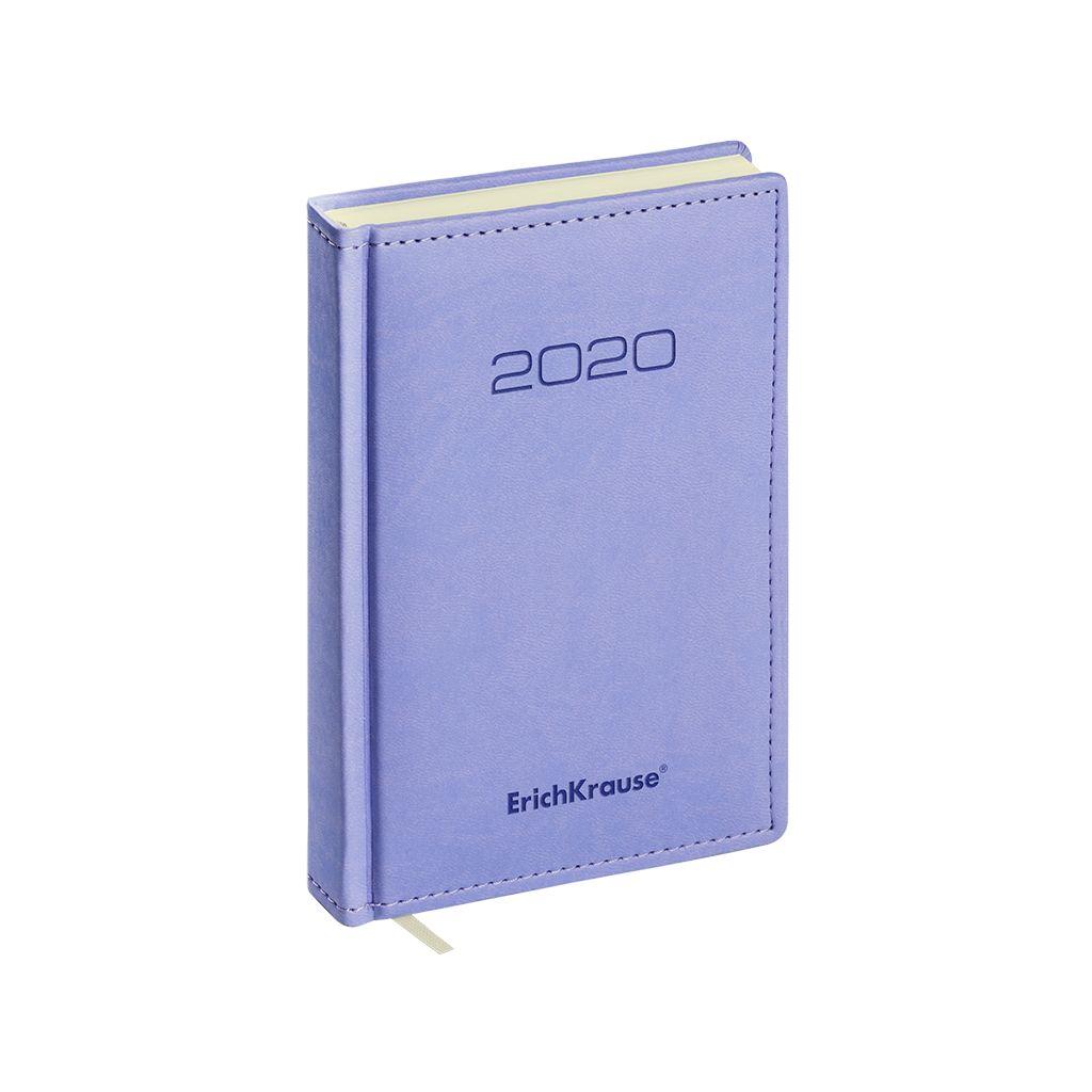 Ежедневник А6+ 2020г Erich Krause Vivella фиолетовый