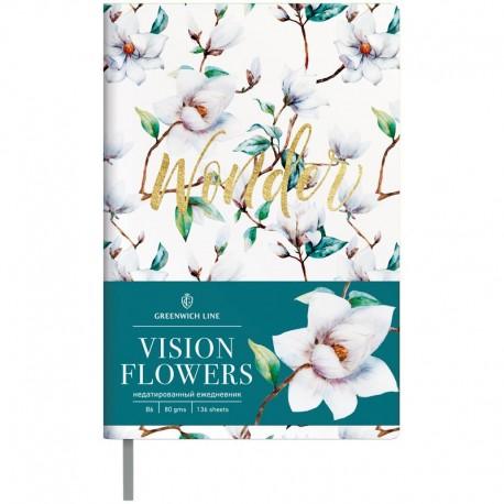 Ежедневник В6 Greenwich Vision.Flowers