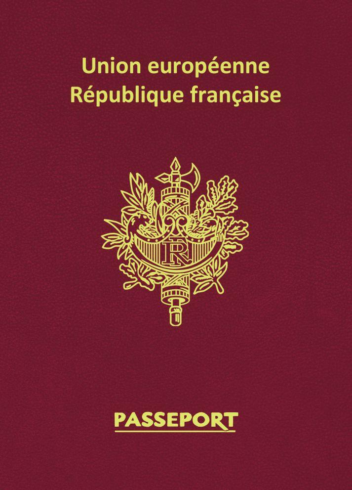 Зап. книжка А6 16л нелин Паспорт Франция 80г/кв.м
