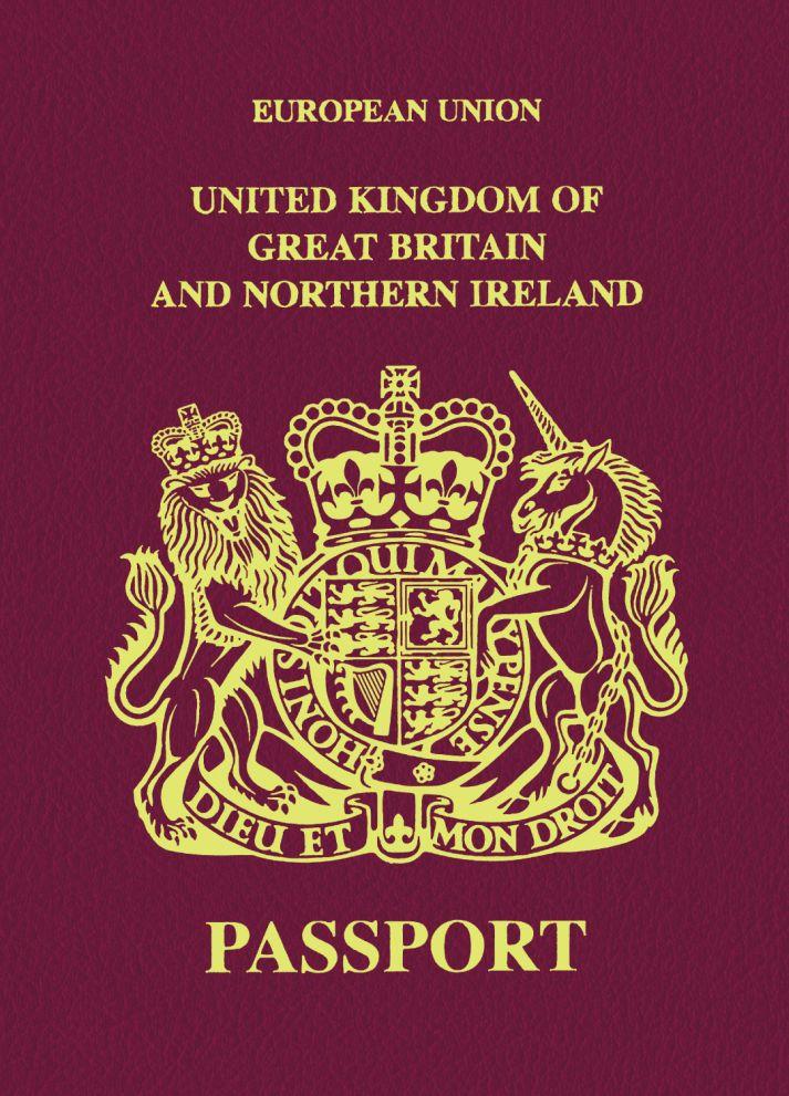 Зап. книжка А6 16л нелин Паспорт Англия 80г/кв.м