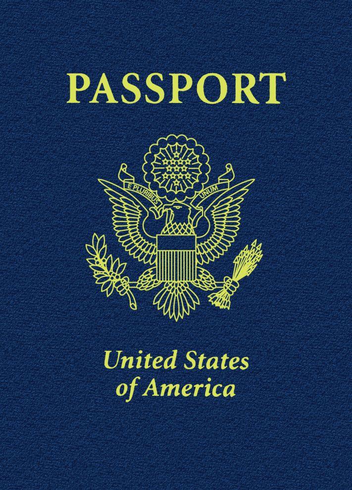 Зап. книжка А6 16л нелин Паспорт Америка 80г/кв.м