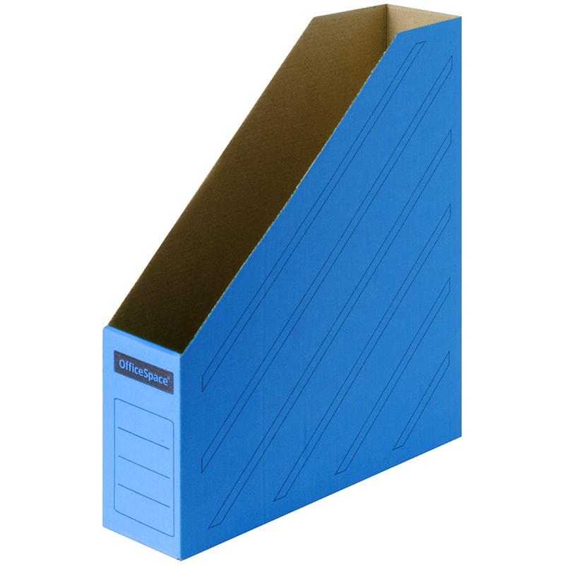 Лоток верт 1отд картон 75мм синий