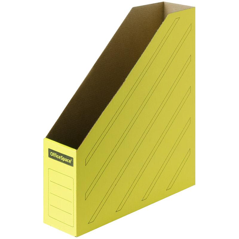 Лоток верт 1отд картон 75мм желтый