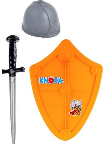 Набор оружия Вояка шлем, щит и меч пласт