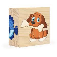 Кубики 4шт Домашние любимцы
