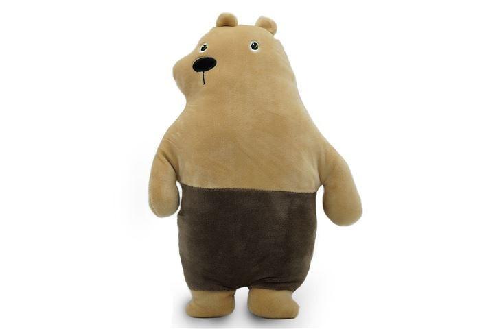 Мягконабивная Медведь Гризли средний 33см