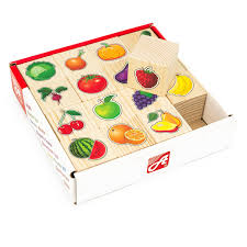 Кубики 16шт Овощи и фрукты