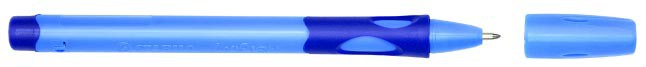 Ручка шариковая Stabilo LeftRight синяя (для левшей) корпус голубой