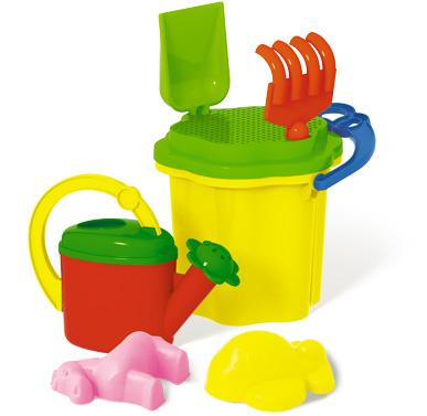 Игрушка пластмассовая Песочница набор № 316 (ведро, формочки, лейка)
