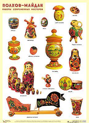 Плакат Полхов-Майдан. Работы современных мастеров