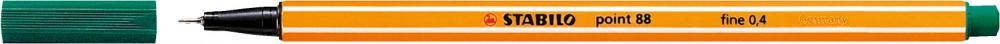 Ручка капиллярная STABILO Point 0.4 зеленовато-бирюзовая