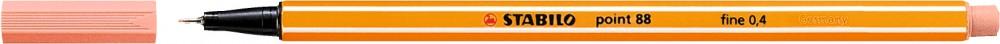 Ручка капиллярная STABILO Point 0.4 телесный светлый