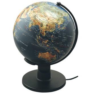 Глобус d-25 Proff физ. и пол. карта, рельеф. поверхность, подсветка