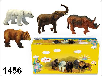 Конструктор пластмассовый 3D-пазл Зоопарк. Слон