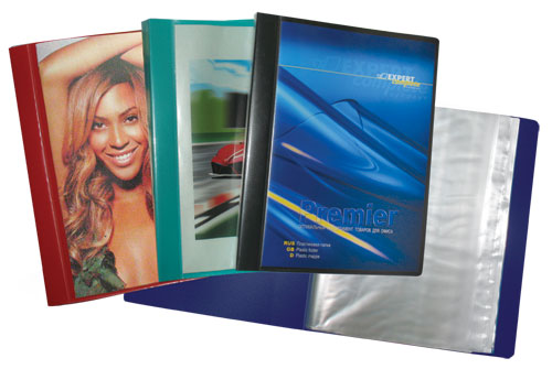 Папка-файл А4 40л Premier синяя для презент.