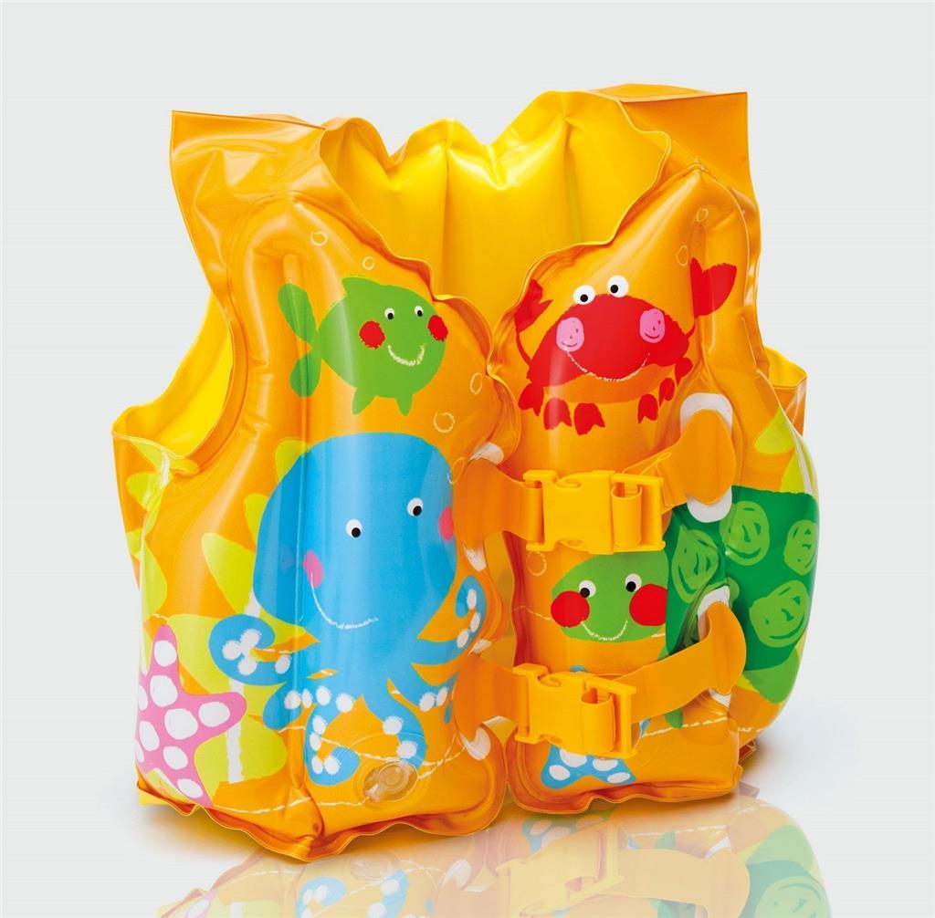 для плавания Жилет надувной Забавные рыбки (от 2 до 5 лет)