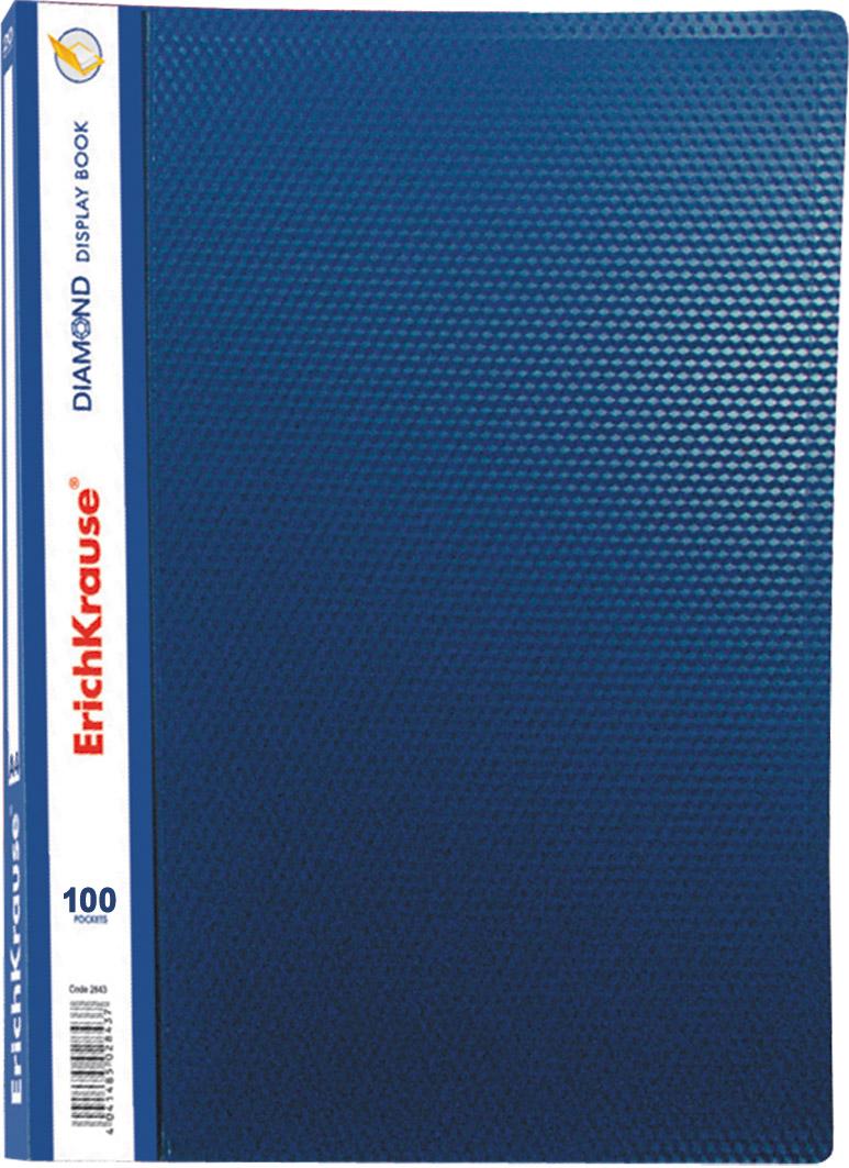 Папка-файл А4 100л EK Diamond синяя в пл/к