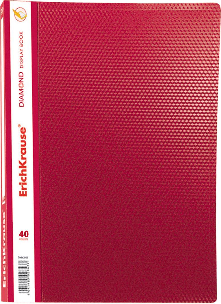 Папка-файл А4 40л EK Diamond красная