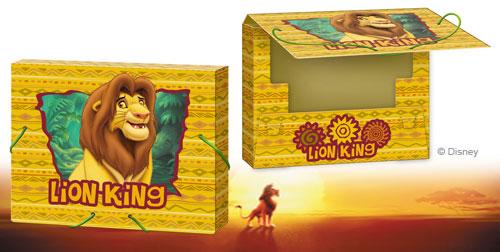 Папка для тетрадей А5 Lion King на резинках