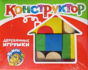 Конструктор Цветной 26 дет. деревян.