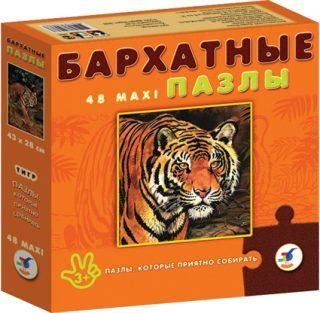 Пазл 70 Maxi Бархатные Тигр
