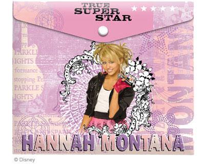 Папка для тетрадей А5 Hannah Montana на кнопке
