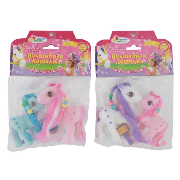 Лошадь-пони 2шт. флокир. покрытие