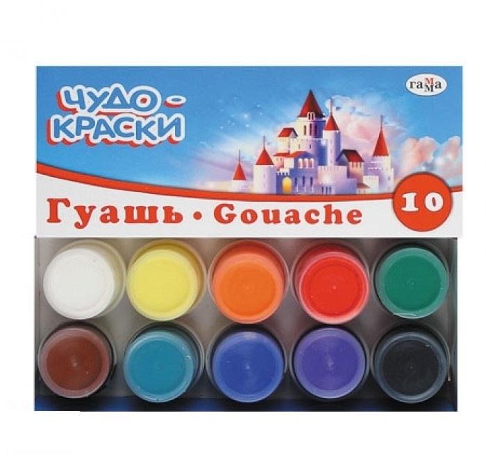 Гуашь 10цв Чудо-краски 20см3