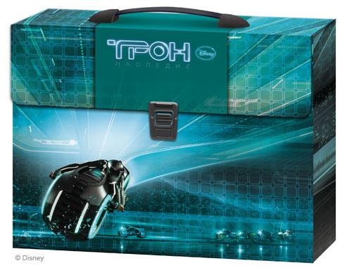 Портфель с ручкой пластиковый Tron Трон