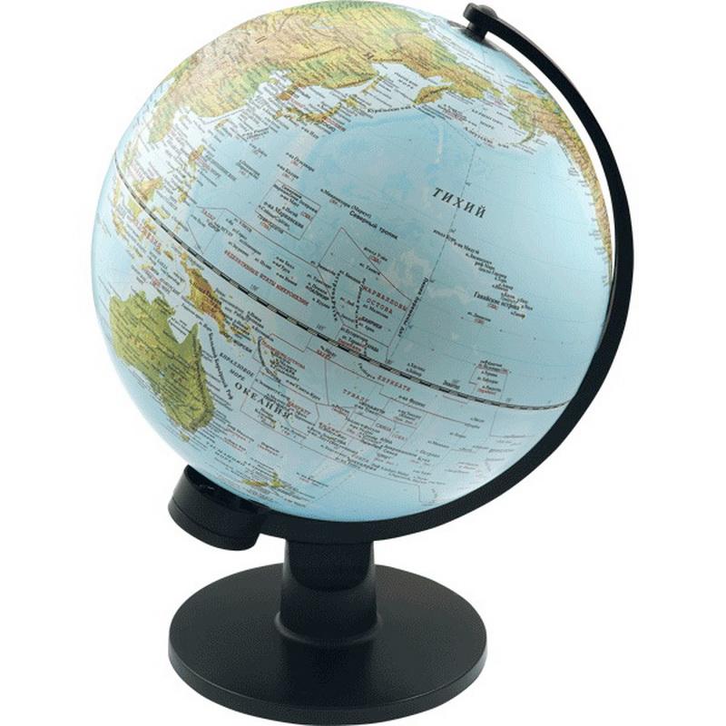 Глобус d-30 Proff физическая карта, рельефная поверхность