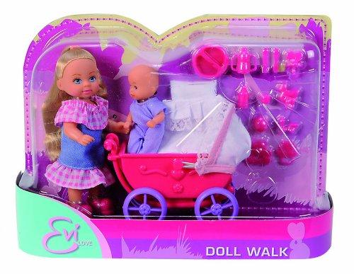 Кукла Еви с малышом на прогулке (пупс + коляска)