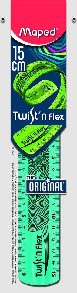 Линейка пласт. 15 см гибкая Twist'n Flex