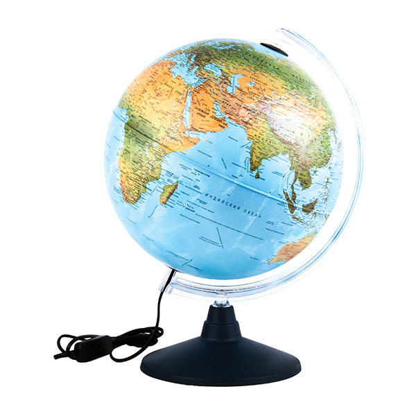 Глобус d-25 физик./политич. с подсветкой