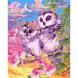 Творч Рисование по номерам 40Х50 Нежные совы