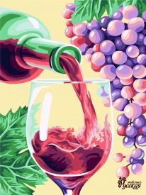 Рисование по номерам 40Х50 Красное вино