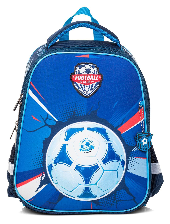 Ранец панцирный Hatber Футбол синий