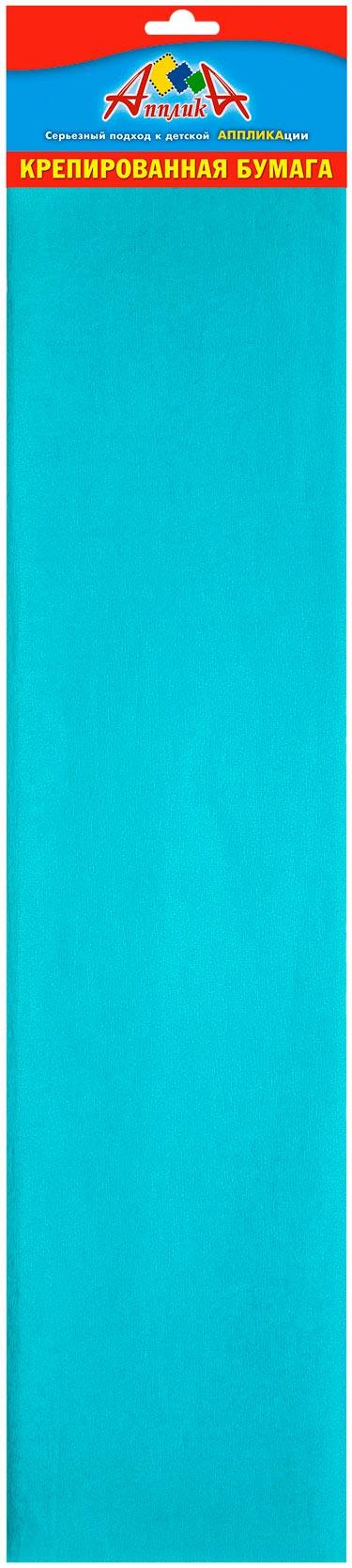 Творч Бумага креповая 50*250см бирюзовый